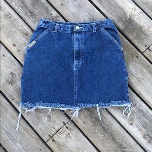 Vintage Distressed Carpenter Denim Skirt
